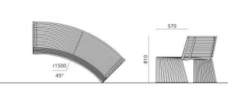 Banc dossier Courbe Convexe ZEROQUINCI.015
