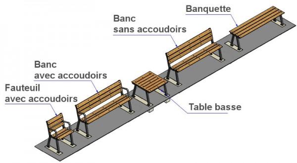 Fauteuil pour espace public